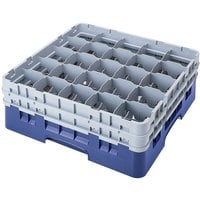 Cambro 25S638168 Camrack 6 7/8 inch High Blue 25 Compartment Glass Rack