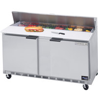 Beverage-Air SPE60-16 60 inch Two Door Refrigerated Salad / Sandwich Prep Table