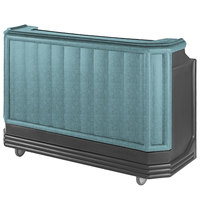 Cambro BAR730421 Granite Green and Black Cambar 73 inch Portable Bar with 7 Bottle Speed Rail