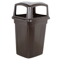 Continental 6564BR Colossus 56 Gallon Brown Four-Door Trash Can