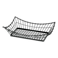 Tablecraft GM1608 Grand Master Rectangular Metal Basket - 15 inch x 8 inch x 4 1/4 inch