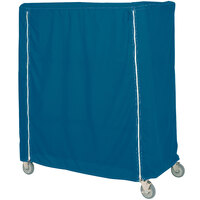 Metro 24X36X74VCMB Mariner Blue Coated Waterproof Vinyl Shelf Cart and Truck Cover with Velcro® Closure 24 inch x 36 inch x 74 inch