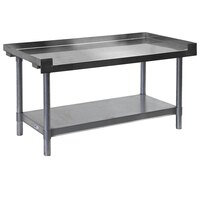 APW Wyott HDS-24C 24 inch x 30 inch Heavy Duty Cookline Equipment Stand with Galvanized Undershelf and Casters