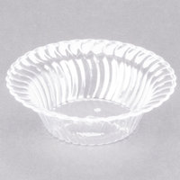 Fineline Flairware Clear 205-CL 5 oz. Plastic Bowl - 18/Pack