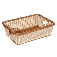 GET WB-1517-TT Designer Polyweave Plastic Rectangular Basket 23 inch x 17 inch x 7 inch - 6 / Pack
