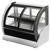 Vollrath 40885 60 inch Curved Heated Display Cabinet with Front Access