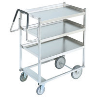 Vollrath 97203 Heavy-Duty Stainless Steel 3 Shelf Utility Cart - 44 inch x 23 inch x 44 1/2 inch