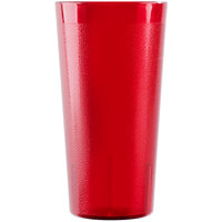 Cambro 2000P2156 Colorware 22 oz. Ruby Red Plastic Tumbler - 24 / Case