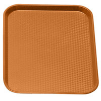 Cambro 1216FF166 12 inch x 16 inch Orange Customizable Fast Food Tray - 24 / Case