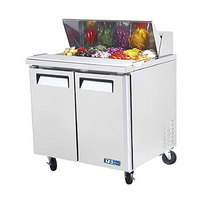 Turbo Air MST-36 36 inch M3 Series Refrigerated Salad / Sandwich Prep Table with Two Doors