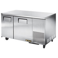 True TUC-60-32F 60 inch Deep Depth Undercounter Freezer with Two Doors