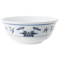 GET M-608-B Water Lily 48 oz. Fluted Melamine Bowl - 12/Pack