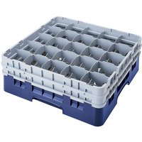 Cambro 25S318168 Camrack 3 5/8 inch High Blue 25 Compartment Glass Rack