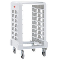 Rubbermaid 3315 8 Pan Off White Max System End Load Prep Cart with Cutting Board (FG331500OWHT) - Unassembled