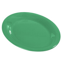 Carlisle Durus 12 inch 4308209 Meadow Green Oval Melamine Platter - 12/Case