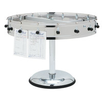 Carlisle 3816MP 16 Clip with Pedestal Base Portable Order Wheel Ticket Holder