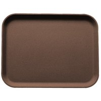 Cambro 3253CT138 Tavern Tan Camtread Non-Skid Serving Tray 13 inch x 21 inch - 12/Case