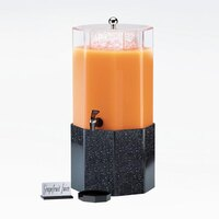 Cal Mil 153-3-17 3 Gallon Classic Octagon Beverage Dispenser with Granite Charcoal Base - 11 1/4 inch x 11 1/4 inch x 22 1/2 inch