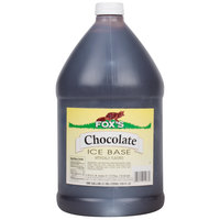 Fox's Chocolate Italian Ice Syrup Base - (4) 1 Gallon Containers / Case
