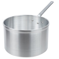 Vollrath 4110 Wear-Ever Classic Select 8.5 Qt. Straight Sided Deep Sauce Pan with Traditional Handle