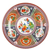 Peacock 10 3/8 inch Round Melamine Plate - 12 / Pack