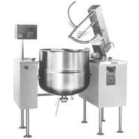 Cleveland MKDL-40-T 40 Gallon Tilting 2/3 Steam Jacketed Direct Steam Mixer Kettle