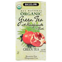 Bigelow Organic Green Tea with Pomegranate and Acai - 20 / Box