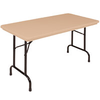 Correll RX2448 24 inch x 48 inch Brown Plastic Tamper-Resistant Folding Table