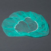 Royal Paper RP110NWC 21 inch Green Disposable Bouffant Cap - 100 / Pack