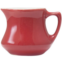 Hall China 30196W326 Scarlet 5.5 oz. Empire Creamer 24 / Case