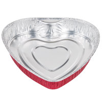 Durable Packaging 9701V Heart Shaped Foil Bake Pan - 100 / Case