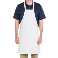 Choice White Full Length Bib Apron - 34 inchL x 34 inchW