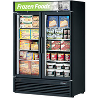 Turbo Air TGF-47SDB Black 51 inch Super Deluxe Two Door Merchandiser Freezer - 46.2 Cu. Ft.
