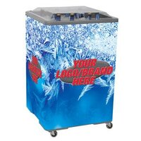 Gray Ice Vault 650 108 qt. Square Merchandiser Cooler