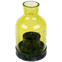 Sterno Products 80136 4 1/2 inch Green Glass Lantern Liquid Candle Holder