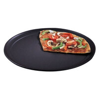 American Metalcraft HCTP19 19 inch Wide Rim Pizza Pan - Hard Coat Anodized Aluminum