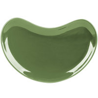 CAC CRS-8GRE Festiware Crescent Shaped Salad Plate 8 3/4 inch x 5 inch - Green - 36/Case