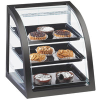 Cal-Mil P255-96S Midnight Bamboo Euro Style Display Case with Front Door - 17 inch x 17 x 18 inch