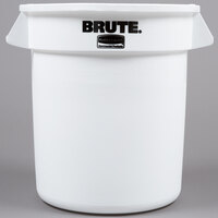 Rubbermaid Brute FG261000WHT White 10 Gallon Trash Can