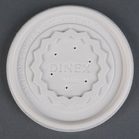 Dinex DX9000B7000 Translucent Disposable High-Temp Lid for Dinex Tropez DX9200B Bowl and DX9000B Cup - 1000/Case