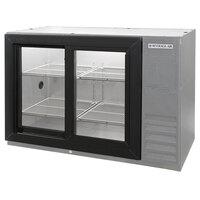 Beverage Air BB48GSY-1-S-LED 48 inch SS Back Bar Refrigerator with Sliding Glass Doors - 115V, LED Lighting
