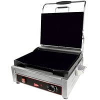 Cecilware SG1SF Single Panini Sandwich Grill with Flat Grill Surfaces - 120V