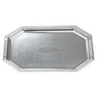 Carlisle 608902 20 inch x 13 3/4 inch Octagon Metal Catering Tray