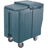 Cambro ICS125T192 Granite Green Sliding Lid Portable Ice Bin - 125 lb. Capacity Tall Model