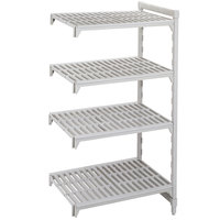 Cambro Camshelving Premium CPA184864V4480 Vented Add On Unit 18 inch x 48 inch x 64 inch - 4 Shelf