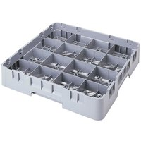 Cambro 16S738151 Camrack 7 3/4 inch High Soft Gray 16 Compartment Glass Rack