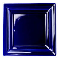 Tuxton Concentrix CCH-0845 Cobalt 8 1/2 inch Square China Plate 12/Case