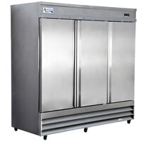 Avantco CFD-3RR 81 inch Three Solid Door Reach-In Refrigerator
