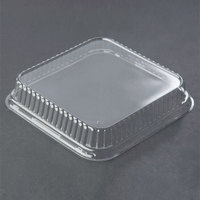 Genpak 95388 Bake 'N Show Clear Dome Lid for 55388 Dual Ovenable Square Brownie / Cake Pan - 250/Case