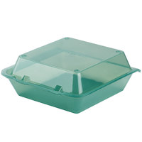 GET EC-02 9 inch x 9 inch x 3 1/2 inch Jade Green Reusable Eco-Takeouts Container - 12 / Pack